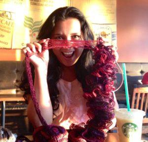 knitting a ruffle scarf